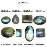 Cabochon Labradorit 23-43 x 17-33 x 6-9 mm - Unicat
